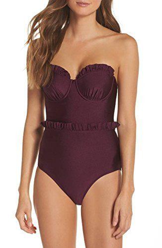 Ted Baker Women's Frilda Swimsuit, Grape