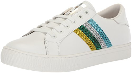 Marc Jacobs Women's Empire Strass Low Top Sneaker, Green/Multi, 35 M EU (5 US)