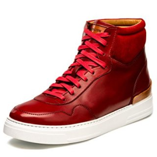 Magnanni Manhattan Hi Red Men's Fashion Sneakers Size 11 US