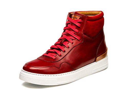 Magnanni Manhattan Hi Red Men's Fashion Sneakers Size 11 US