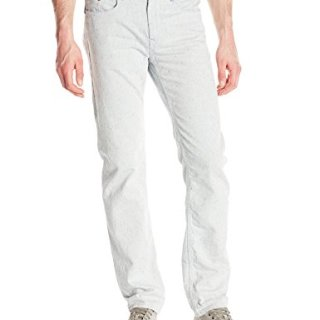 Robert Graham Men's Oatman Woven Denim Tailored-Fit Jean, White, 32x34