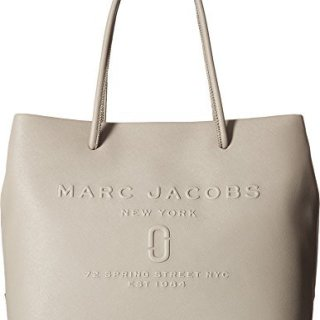 Marc Jacobs Women's Logo Shopper East/West Tote Stone Grey One Size