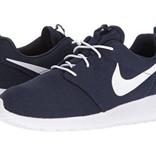 NIKE Men's Roshe One Running Shoes, Obsidian/White, 13