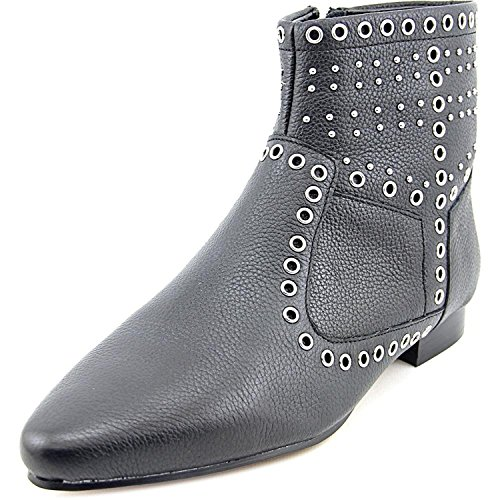 French Connection Women's Charlene Black Tumbled Leather Boot 40.5 (US Women's 9.5) M