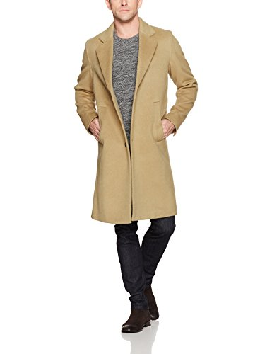 BOSS Orange Men's Budge Cozy Overcoat, Medium Beige, 38R