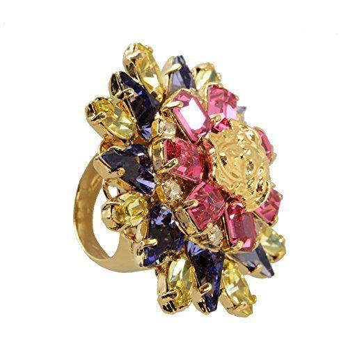 Versace Multi-Color Women's Ring Sz 13