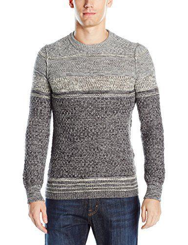BOSS Orange Men's Agruade Ink Slub Sweater, Black, Large