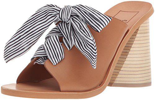 Dolce Vita Women's Amber Heeled Sandal, Caramel Leather, 7 M US