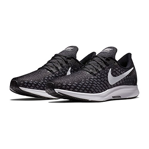 NIKE Men's Air Zoom Pegasus 35 Black/White-Gunsmoke-Oil Grey 10