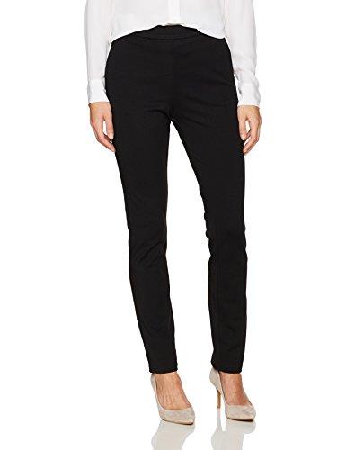 Trina Turk Women's Honey Ponte Pull on Slim Fit Pants, Black, 10