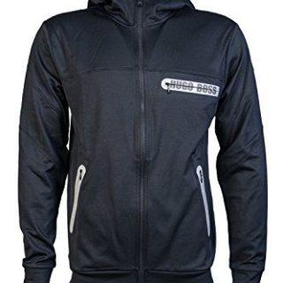 Hugo Boss Mens Zip up/Button Cardigan Hoody Sweatshirt Dynamic Jacket Size S Black