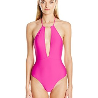 Ted Baker Women's Pikaa Halter One Piece Swimsuit, Fuchsia, 5