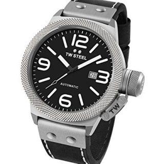 TW Steel Men's CS6 Analog Display Black Watch