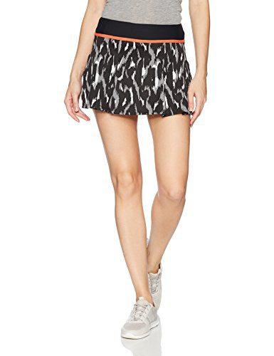 Trina Turk Recreation Women's Leopard Luxe Jacquard Tennis Skirt, Black, M