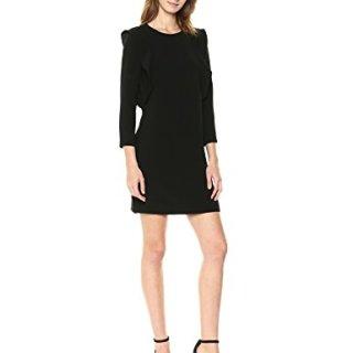 A|X Armani Exchange Women's Padded Shoulder Work Dress, Black, 8
