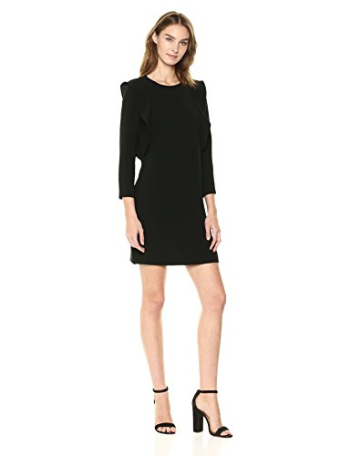 A|X Armani Exchange Women's Padded Shoulder Work Dress, Black, 8
