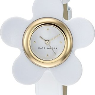 Marc Jacobs Women's 'Daisy' Quartz Stainless Steel and Leather Casual Watch, Color White (Model: MJ1594)
