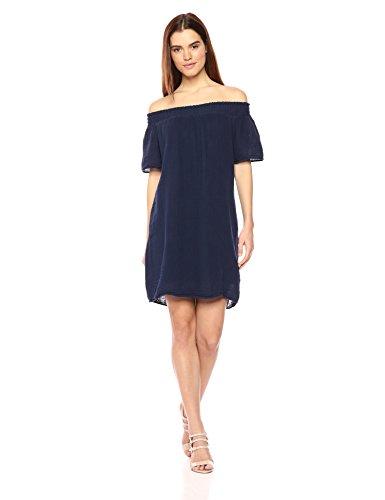 Michael Stars Women's Double Gauze Off-The-Shoulder Dress, Nocturnal, M