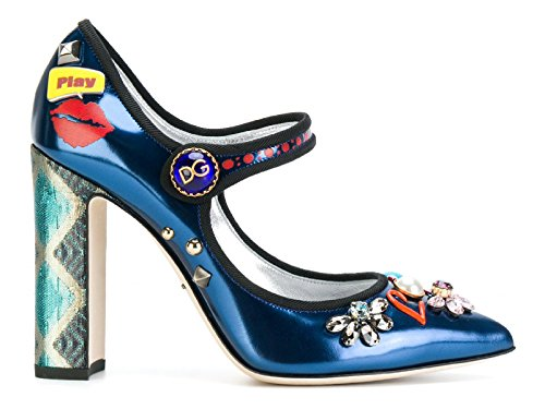 Dolce e Gabbana Women's Multicolor Leather Pumps