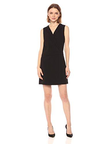 A|X Armani Exchange Women's Tuxedo Dress, Black, 4
