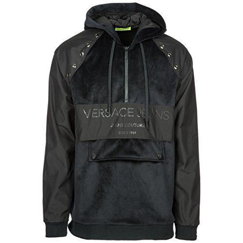 Versace Jeans Men's Hoodie Sweatshirt Sweat Black US Size M (US M)