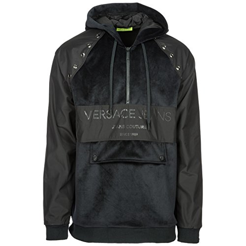 Versace Jeans Men's Hoodie Sweatshirt Sweat Black US Size M (US M)