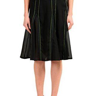 Versace Versus Black Women's Straight Skirt US XS IT 38