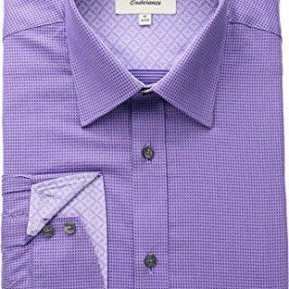Ted Baker Men's Dudders Endurance Dress Shirt Purple 15.5-32-33