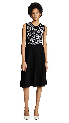 Salvatore Ferragamo Women's Sleeveless Dress, Nero/Grigio, Large