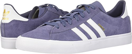 adidas Skateboarding Men's Campus Vulc II Raw Indigo/Footwear White/Raw Indigo 13 D US