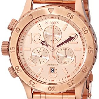 Nixon Women's Stainless Steel Chronograph Watch, Rose Gold
