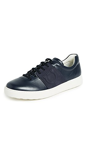 Salvatore Ferragamo Men's Cult Logo Sneakers, Blue Marine, 10.5 D(M) US