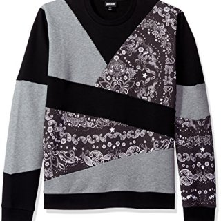 Just Cavalli Men's Daywear Sweater Jersey, Black, Small