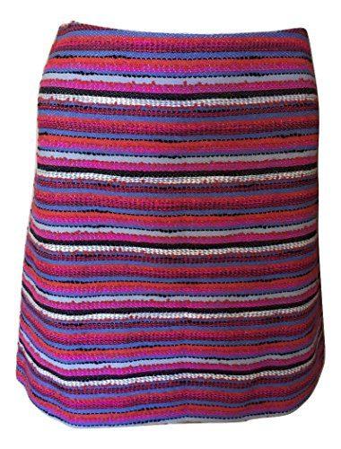 Kate Spade New York Women's Haute Stuff Stripe Textured Tweed Skirt, Multi, 2