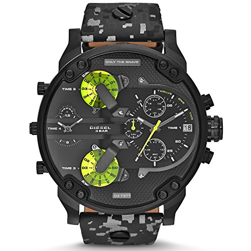 Diesel Mens SBA Mr. Daddy 2.0 Black Camo Watch