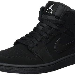 Nike Men's Air Jordan 1 Retro Mid Basketball Shoe Black/White-Black (8.5 D(M))