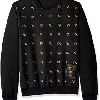 Versace Jeans Men's Felpa Vj Logo Sweatshirt, Nero, Large