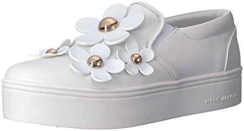 Marc Jacobs Women's Daisy Slip Sneaker, White, 39 M EU (9 US)