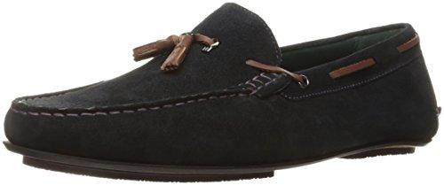 Ted Baker Men's Muddi 3 Slip-on Loafer, Dark Blue Suede, 9 M US