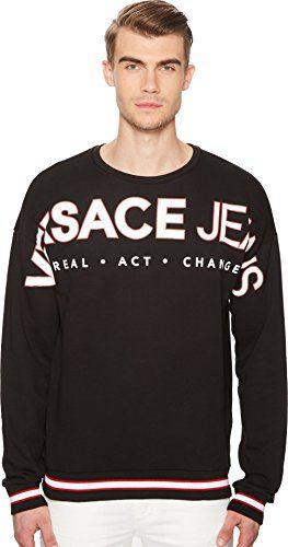 Versace Jeans Men's Exploded Logo Sweatshirt Black 4