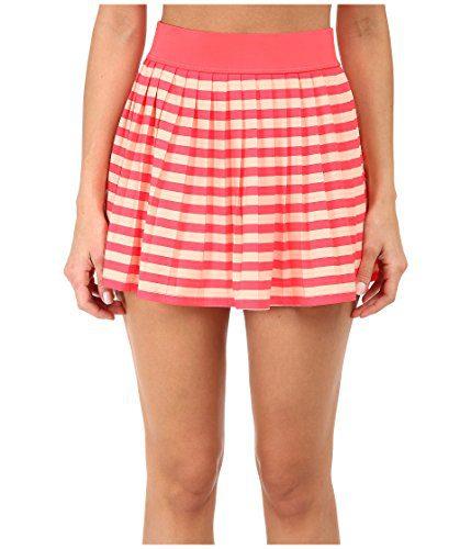 Kate Spade New York Georgica Beach Stripes Swimsuit Cover Up Mini Skirt Geranium (M)