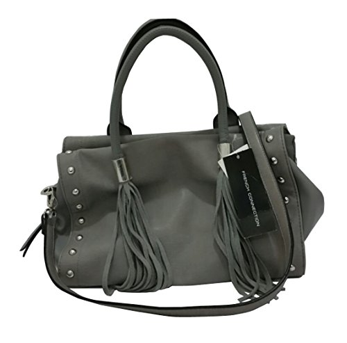 French Connection Handbag Hayden Large Satchel Soft Saffiano