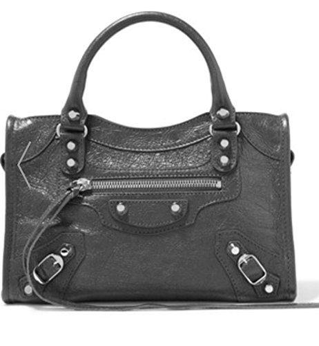 Balenciaga Giant 12 City Aj Mini Textured-leather Grey Top Shoulder Bag