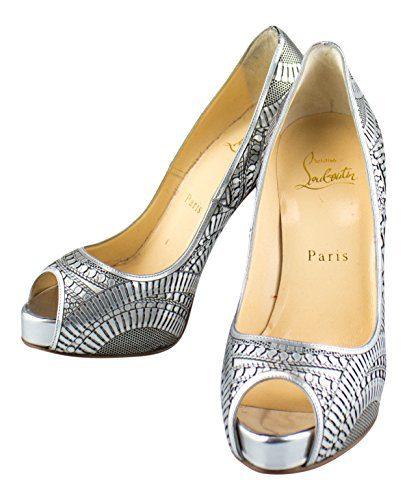 CHRISTIAN LOUBOUTIN Suellena 120 Open Toe Pumps Heels Shoes 5.5/35.5