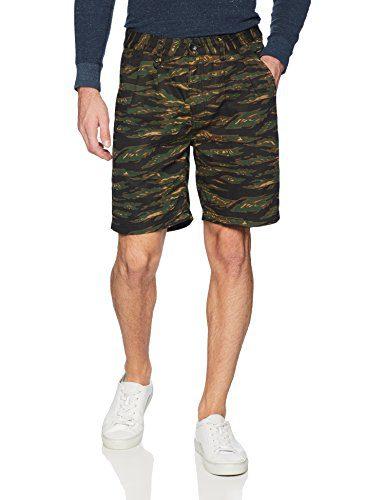 Publish Brand INC. Men's Derick-Best Ever Tiger Camo Shorts, Camouflage, 34