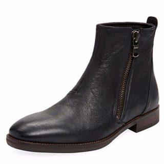 John Varvatos USA Star M Black Zip Leather Boot Men's Size 12