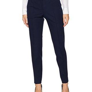 Trina Turk Women's Kait Cotton Bi Stretch Straight Leg Pant, Indigo, 4