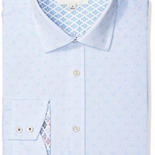 "Ted Baker Men's Racking Slim Fit Dress Shirt, Blue, 15.5"" Neck 34-35"" Sleeve"
