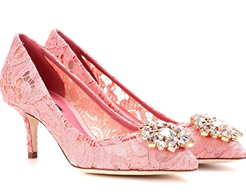 Dolce Gabbana Women's Fashion Pumps Pink EU 37,5 (7,5 B(M) US)