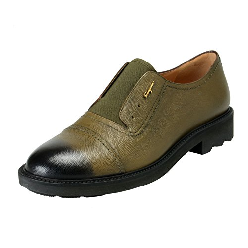 Salvatore Ferragamo Women's Ferdy Green Pebbled Loafers Slip On Shoes US 10M IT 40M